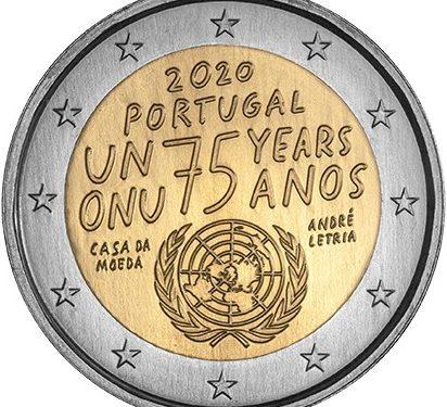 """INCM – 2 euros """"75 ANOS DA ONU"""""""