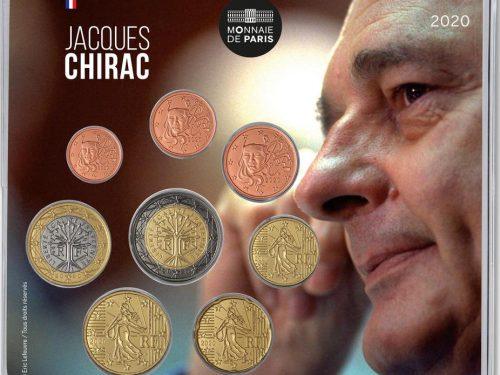 """FRANCIA 2020 > Set Divisionale 8 monete FDC """"Jacques Chirac"""""""