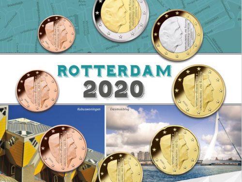 """OLANDA 2020 > Set Divisionale 8 monete UNC """"Rotterdam"""""""