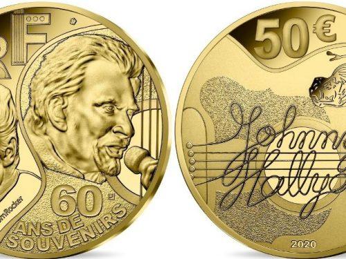 Monnaie de Paris – Johnny Hallyday 60 ans de souvenirs Monnaie de 50€ Or