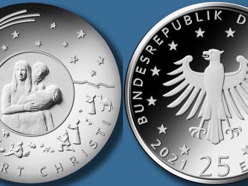 """Bundesfinanzministerium – 25-Euro-Sammlermünze """"Weihnachten – Geburt Christi"""""""