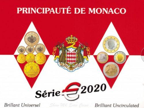 MONACO 2020 > Set Divisionale 8 monete FDC