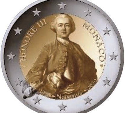 2020 €2 commemorative coin from MONACO – Prince HONORE III