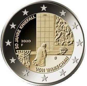 Germany 2 euro 2020 – 50 years of the Warsaw genuflection