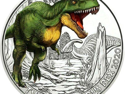 El Tyrannosaurus rex llega a la serie de monedas Supersaurios