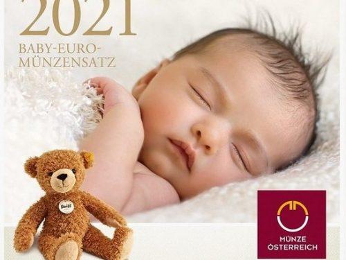 AUSTRIA > Set Divisionale 8 monete FDC 'Baby'