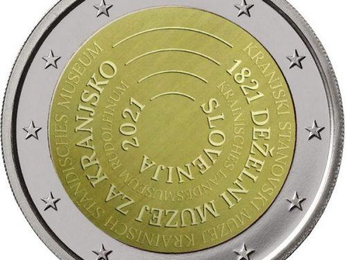 Diseño de la moneda de 2 euros conmemorativa Eslovenia 2021