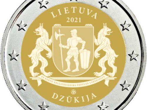 Diseño moneda 2 euros conmemorativa 2021 Región de Dzūkija