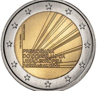 """PORTOGALLO 2021 > 2 € commemorativo """"Presidenza Unione Europea"""""""
