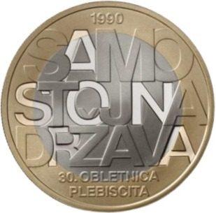 Una moneda de 3 euros celebra la independencia de Eslovenia
