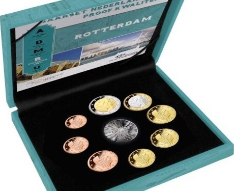 """OLANDA 2020 > Set Divisionale 8 monete FS """"Rotterdam"""""""