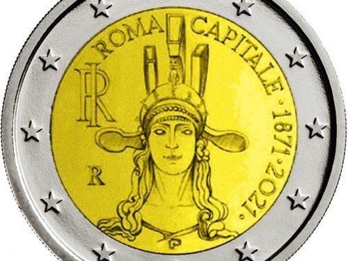 "ITALIA 2021 > 2 € commemorativo ""150° anniv. Roma Capitale d'Italia"""