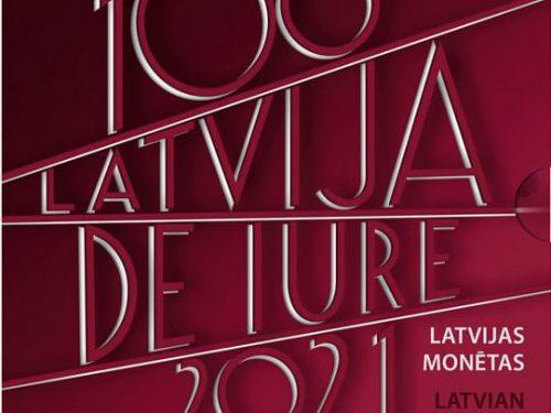 """LETTONIA 2021 > Set Divisionale 9 monete FDC """"100º anniv. Riconoscimento de iure della Repubblica di Lettonia"""""""