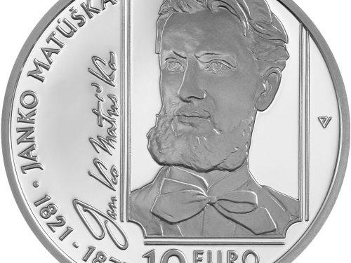 "Mincovňa Kremnica – €10 silver collector euro coin Janko Matúška ""200th anniversary of the birth of Janko Matúška"""