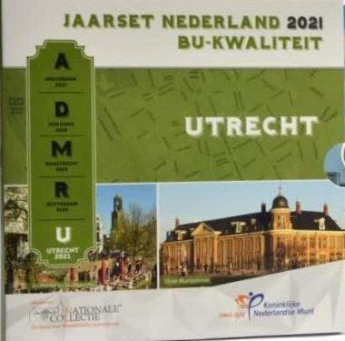 "OLANDA 2021 > Set Divisionale 8 monete FDC ""Utrecht"""