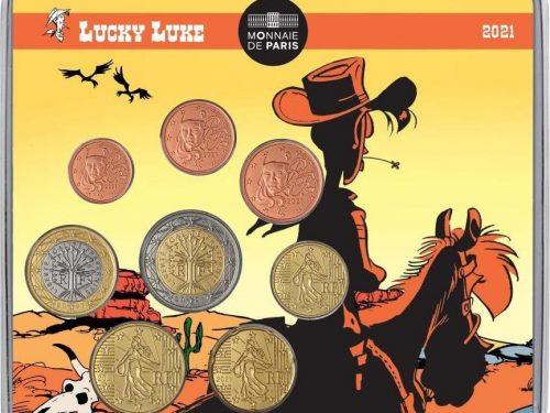 "FRANCIA 2020 > Set Divisionale 8 monete FDC ""Lucky Luke"""